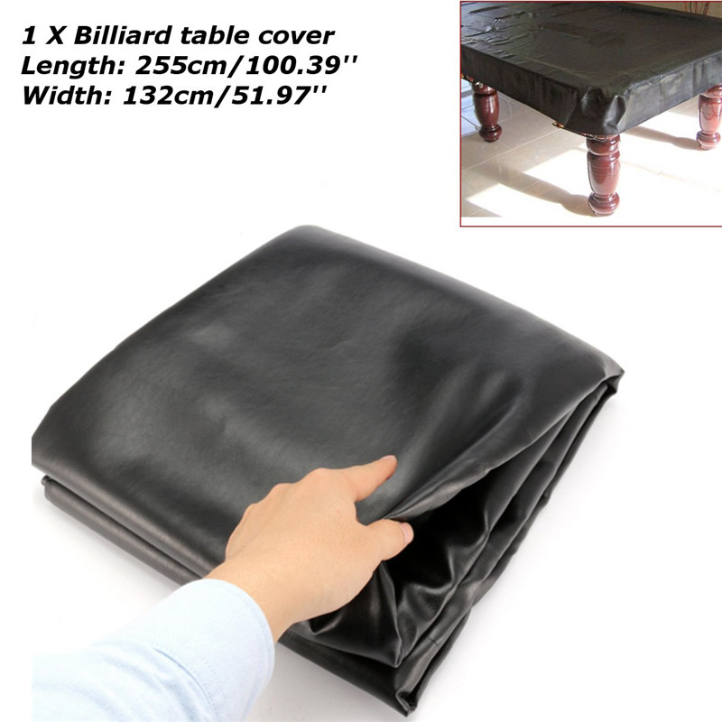 Newest 8FT Universal Waterproof Rubber Bands Dustproof Cover for Pool Snooker Table Billiard 255cm x 132cm Snooker Accessories