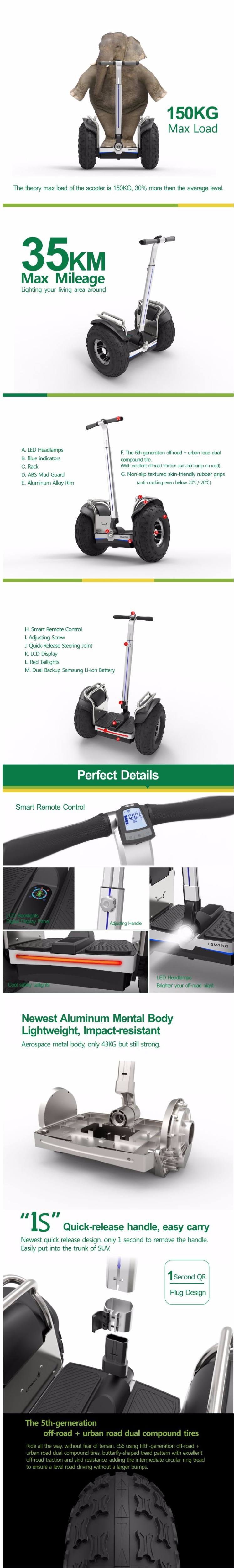 No Tax Self Balance Scooters Leg Control Cross Country 2 Wheel 2400W 19inch Electric Scooter 72V Samsung Battery Hoverboard  (185)