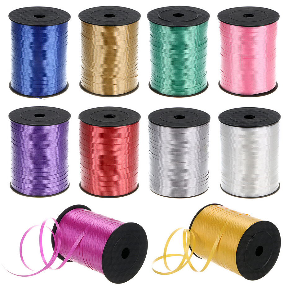 CHOOSE COLOUR 500m Full Reel of Curling Ribbon Balloons Gift Wrapping