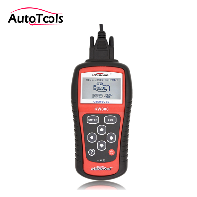 Hot Sale OBD2 auto car Scanner Tool KW808 Car Diagnostic tool interface Code Reader CAN Engine Reset Tool same as MS509 universal obd2 auto scanner foxwell nt301 auto diagnostic tool engine scanner fault code reader with o2 sensor same as al519