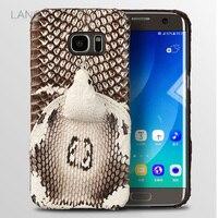 wangcangli brand phone case real snake head back cover phone shell For Samsung Galaxy S7 Edge full manual custom processing