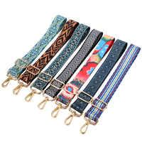 140cm o saco alças alça para mulheres removível diy ombro arco-íris bolsa acessórios corpo cruz mensageiro saco de náilon tiras