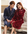Autumn And Winter Flannel Nightgown Male Female Couple Thick Robe Bathrobe Tracksuit Flannel Colors Womens Soft Bathrobes