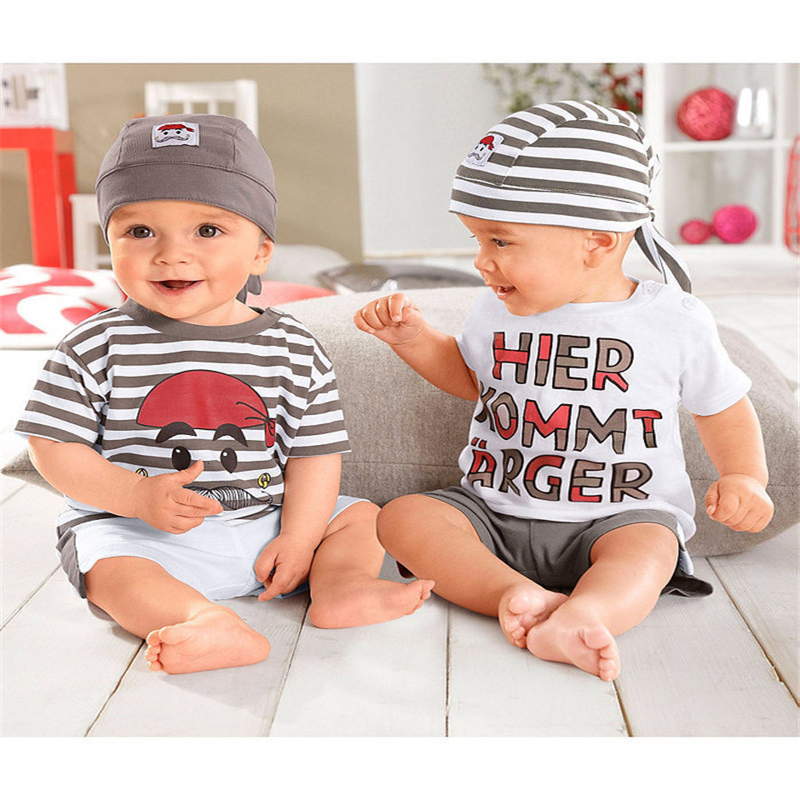 2016 Hot selling baby suit baby sets Twins baby suit