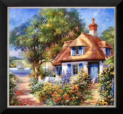 Scenery Embroidery Needlework Crafts 14CT Unprinted DMC DIY Trees House Garden view Cross Stitch Kits Set Handmade Arts Home