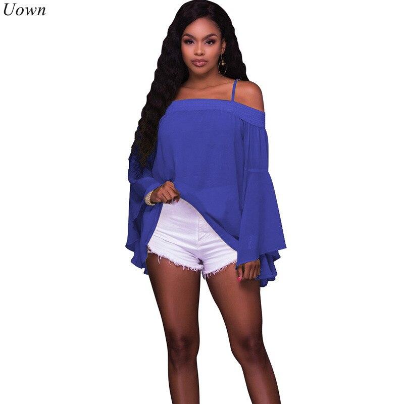 Women's Clothing Blouse Women New Tie Hollow Out 2019 Aliexpress Slash Neck Explosion Shoulder Straps Cropped Sleeve Shirt Vestidos Blk3022
