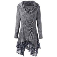 Women Dress Gothic Style Long Sleeves Irregular Hem Mini Tunic 2019 Autumn Dresses Party Casual Vestido
