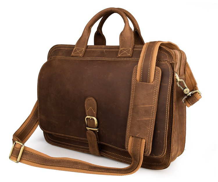 Nesitu High Quality Vintage Brown Genuine Crazy Horse Leather 14 Laptop Office Men Briefcase Messenger Bag Portfolio M6020Nesitu High Quality Vintage Brown Genuine Crazy Horse Leather 14 Laptop Office Men Briefcase Messenger Bag Portfolio M6020