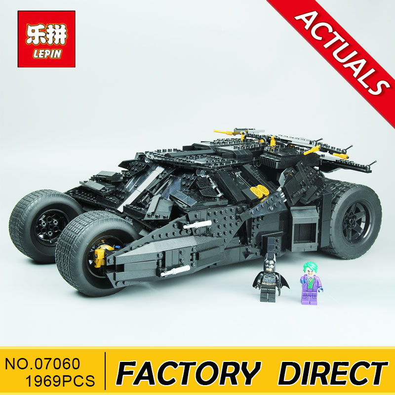 Lepin 07060 1969Pcs Super Heroes Batman Chariot The Tumbler Batmobile Batwing Building Blocks Bricks Education Toys 7111 lepin 07060 super series heroes movie the batman armored chariot set diy model batmobile building blocks bricks children toys