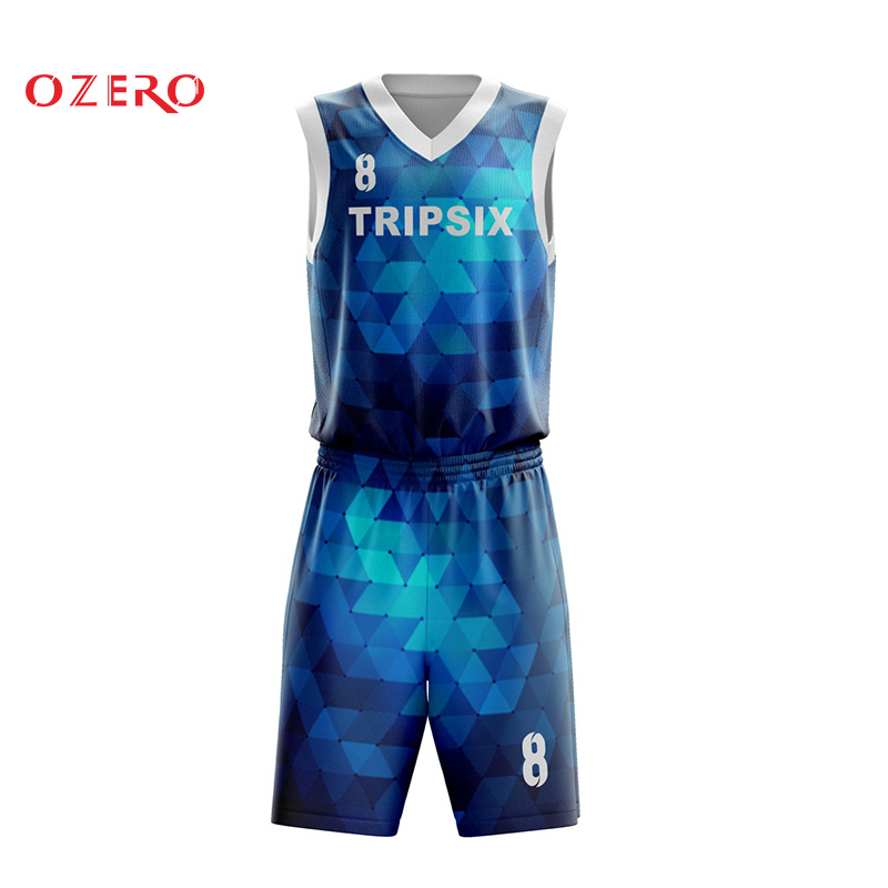 279390fc1e8d latest basketball jersey uniform design color blue -in Basketball Jerseys  from Sports   Entertainment on Aliexpress.com