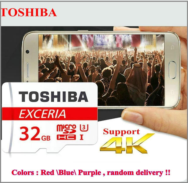 Оригинальный TOSHIBA карты Памяти 32 ГБ карта micro sd Class10 UHS-3 скорость чтения 90 МБ/С. для телефонов tablet DVR + адаптер retail пакет