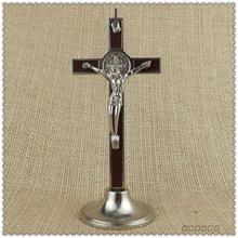 С изображением католической святыни крест Распятие внутренняя деревянная инкрустация основной тип религиозный священный католический церковный Собор Xyloid Rood Jesus 12cm