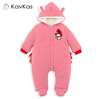 2018 Baby Girls Romper Cottons Baby Girl Winter Clothes Baby Warm Thick Newborn Baby Jumpsuit Christmas Infant Boy Coveralls Kid