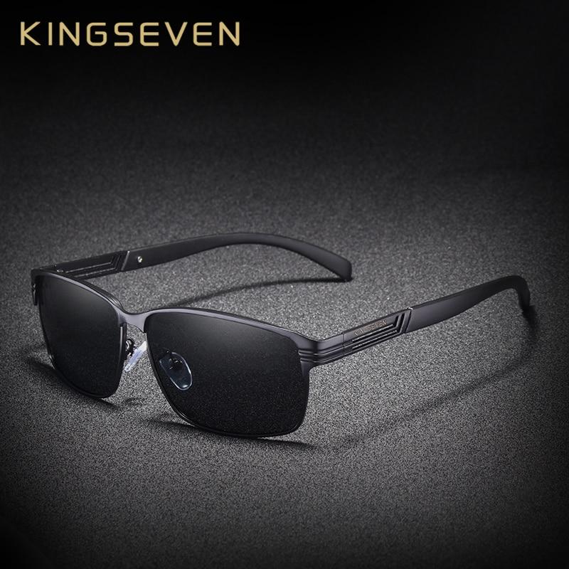 KINGSEVEN di DISEGNO di MARCA Classic occhiali da sole Polarizzati Occhiali Da Sole Degli Uomini di Guida occhiali da Sole Occhiali UV400 Gafas Oculos De Sol