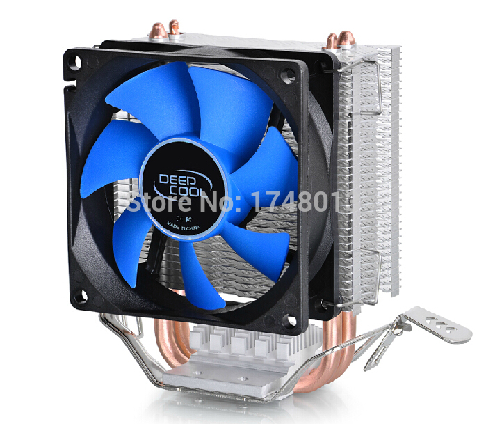 DeepCool  2 heatpipe, for Intel LGA775/1155/1156/1150, for AMD FM1/FM2/AM3+/AM2+, CPU radiator CPU Fan, ice mini Ultimate deepcool mini cpu cooler 2pcs 8025 fan double heatpipe radiator for intel lga 775 115x for amd 754 940 am2 am3 fm1 fm2 cooling