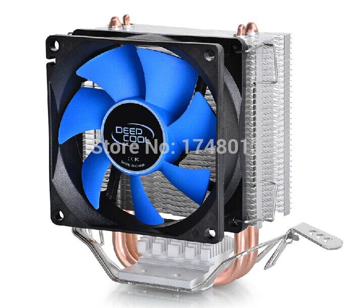 DeepCool 2 heatpipe, pour Intel LGA775/1155/1156/1150, pour AMD FM1/FM2/AM3 +/AM2 +, CPU radiateur CPU Ventilateur, glace mini Ultime