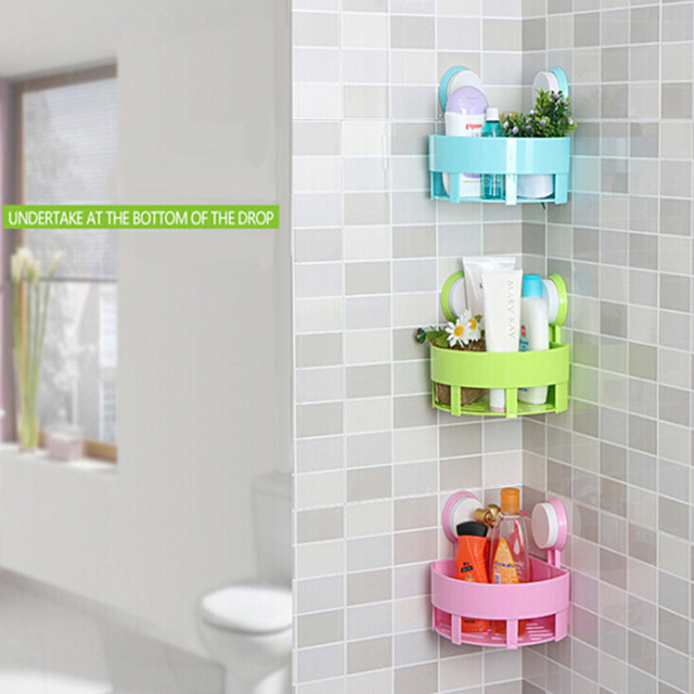 Bathroom Shelf Free Punching Strong Suction Cup Type Triangle Rack Bathroom  Storage Rack Kitchen Wall Hanging Shelf
