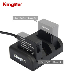 KingMa gopro hero4 3+ 3 3-Channel charger for GoPro HERO4 AHDBT-401 for GoPro HD HERO3+ HERO3 AHDBT-201 AHDBT-301 AHDBT-302