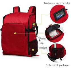 Kit de primeros auxilios para exteriores, bolsa de mensajero cruzada impermeable de nailon rojo para deportes de gran capacidad, bolsa médica de emergencia para viaje familiar DJJB022