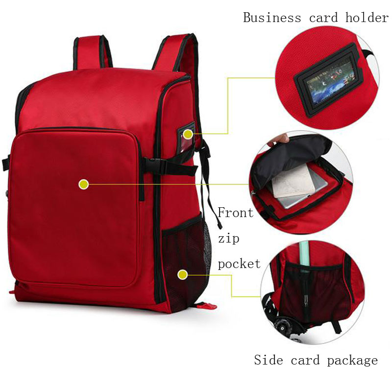 Outdoor First Aid Kit Large Capacity Sports Red Nylon Waterproof Cross Messenger Bag Family Travel Emergency Medical Bag DJJB022