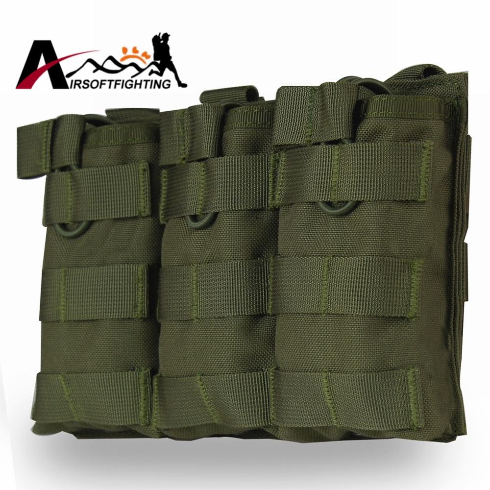1000D Tactical Molle Vest Triple Accessory Bag Magazine Pouch Military Hunting Vest Molle Combat Assault Accessory