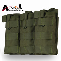 1000D Tactical Molle Vest Triple Accessory Bag Magazine Pouch Military Hunting Vest Molle Combat Assault Accessory