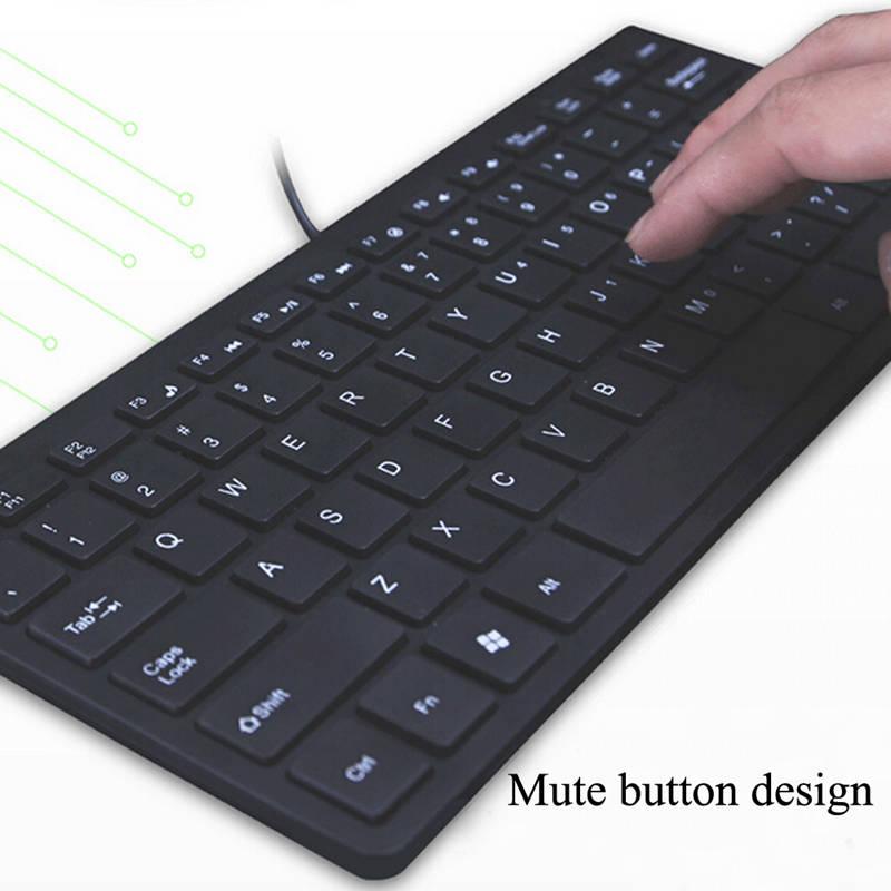 Super Slim Mute Wired USB Mini Keyboard Lightweight Computer Keyboards Super Slim Mute Wired USB Mini Keyboard Lightweight Computer Keyboards HTB1Wc2GQpXXXXaaapXXq6xXFXXXL