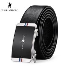 Williampolo 2019 Leather Belt Fashion Buckle Luxury Brand Waist for Male Causal Husband Gift Ceinture Homme PL18243P