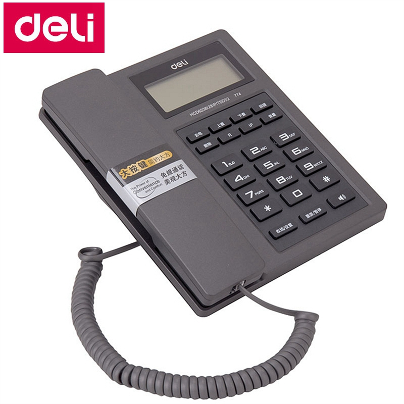 Deli 774 seat type telephone corded phones home office telephone machine caller ID time display records date time display