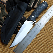 Newest D2 Fixed Blade Knife Micarta Handle Camping Straight Knives Survival Outdoor Tactical EDC Knife Tools With K Sheath 60HRC