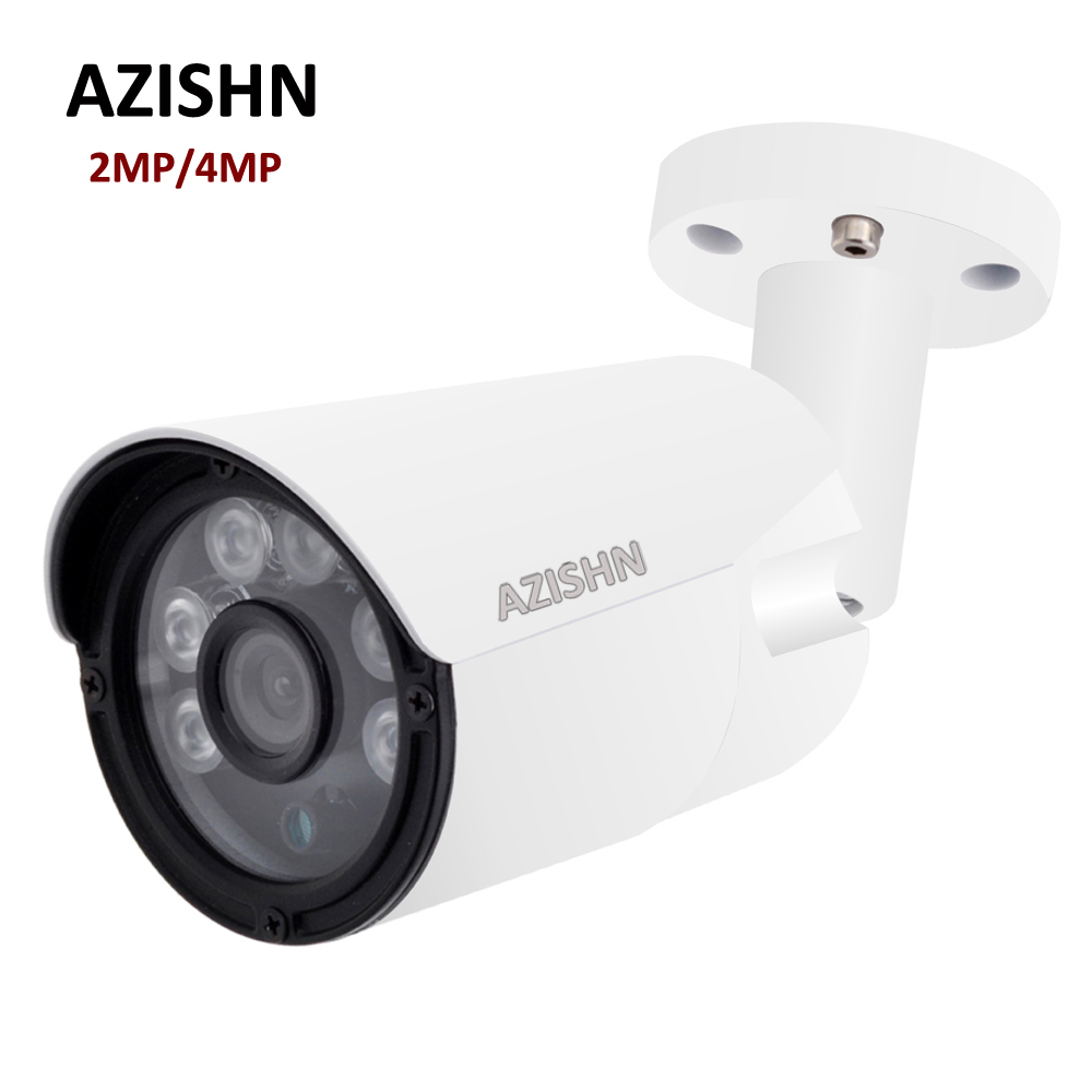 H.264/H.265 Sorveglianza Cctv 2MP 4MP 25FPS ONVIF Motion Detection IP66 Metallo di Sicurezza Esterna IP Camera DC12V/48 V PoE