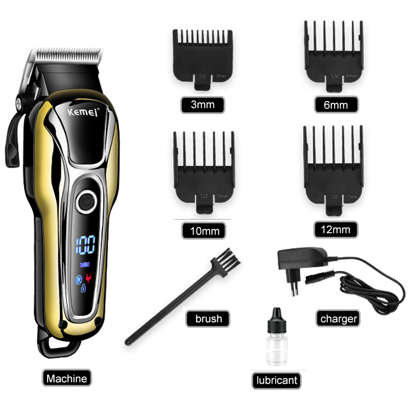 Turbocharged Rechargeable Clipper Professional Hair Trimmer Men Electric Shaver Cutter Hair Cutting Machine Haircut 110V-240V все цены