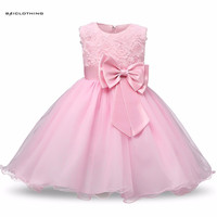 2017 New Designs Floral Girl Dress For Wedding Dance Party Costume Children Princess Girl Evening Dresses