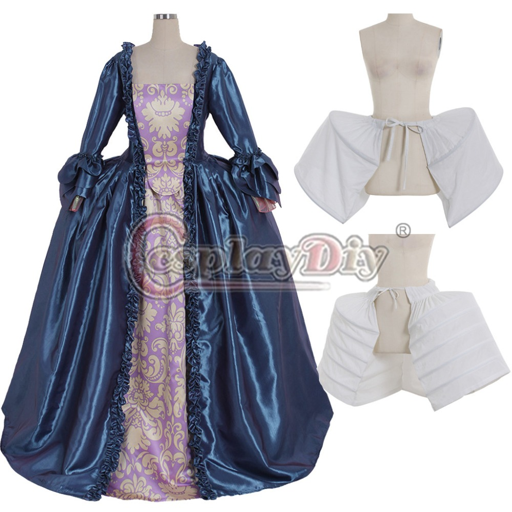 Cosplaydiy Custom Made Dark Blue Rococo Marie Antoinette Gown Adult Masquerade Fancy Belle Dress Any Size L320