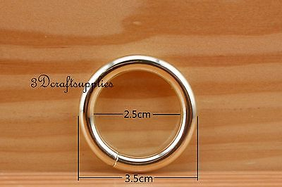 metal O rings O ring purse ring connector light gold 25 mm ...