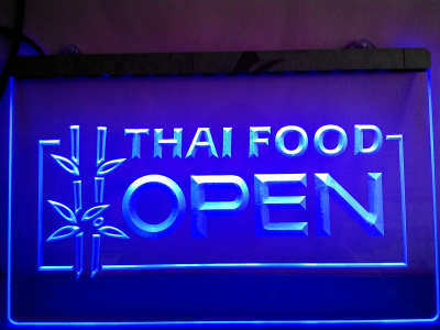 Lk705 Thai Food Open Cafe Restaurant Led Neon Light Sign In Plaques