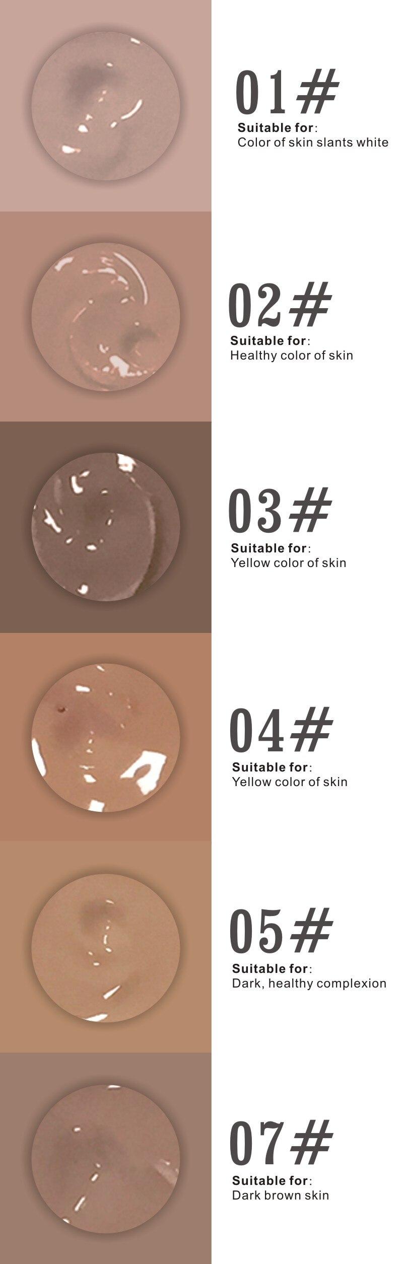 rosto maquiagem branqueamento fundação líquido corretivo bronzer pele nude primer base compõem