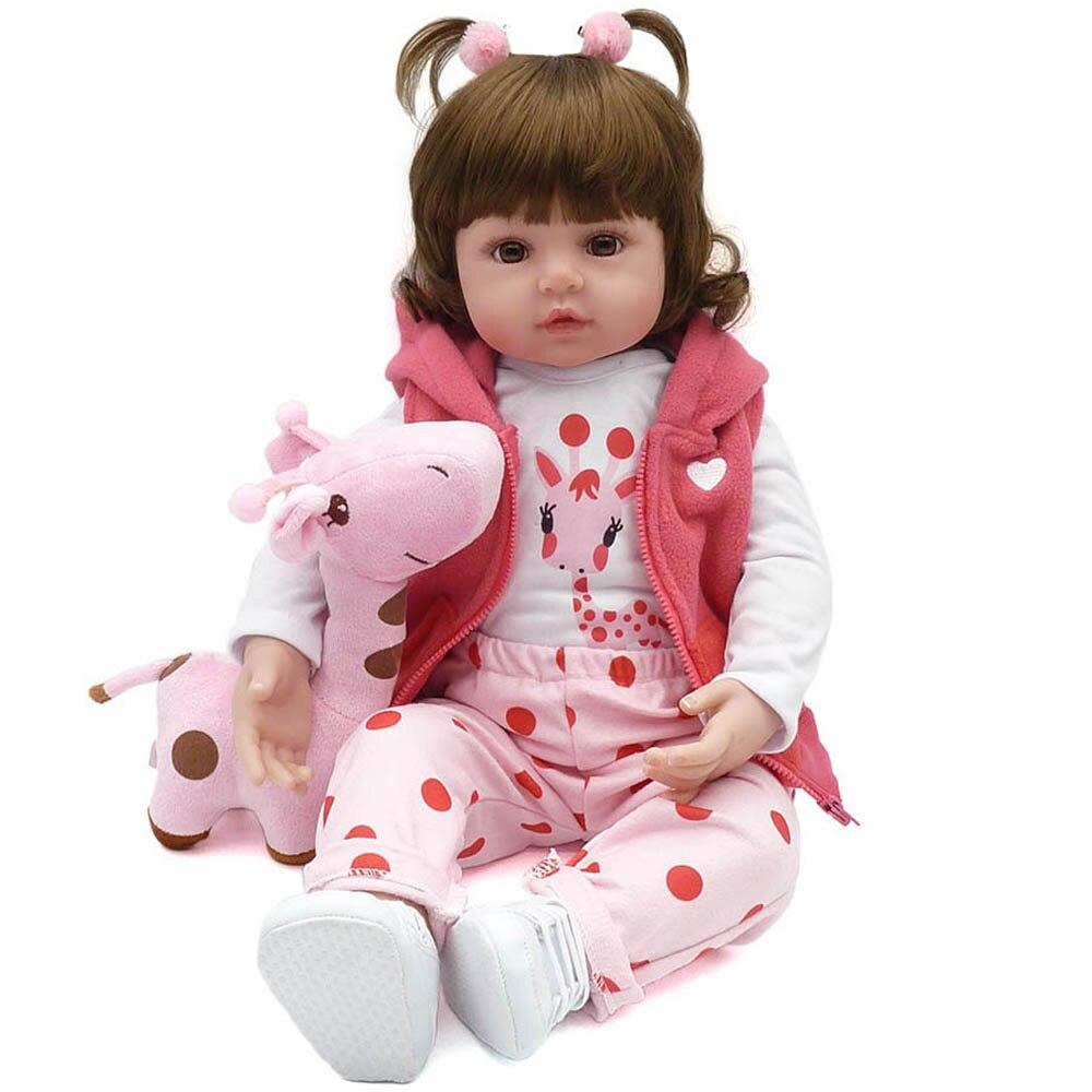 23 inch 57cm Reborn Baby Dolls Alive Lifelike Real Dolls Wig Hair Realistic Silicone Kids Reborn Babies Princess Girls Toys Gift