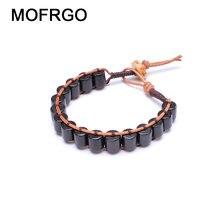 Mofrgo эбеновые деревянные бусы с Яком кости ручной работы плетеный