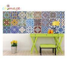 Lot of 10pcs Mediterranean style Self Adhesive Tile Art Wall Decal Sticker DIY Kitchen Bathroom Home Decor Vinyl B