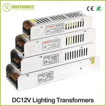 Светодио дный Питание DC12V 60 Вт 120 Вт 180 Вт 200 Вт 240 Вт 360 Вт светодио дный драйвер Мощность адаптер Освещение Трансформеры Бесплатная доставка