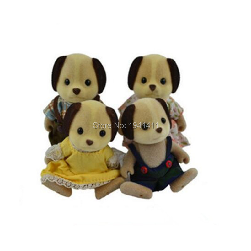 Limited Collection Sylvanian Families Lovely dog Family 4pcs Parents Kids Set New without Box