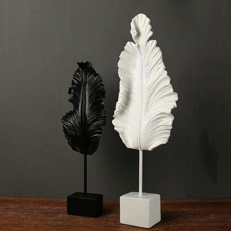 Home villa club leaf sculpture (5)