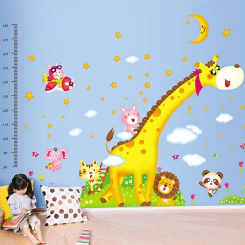 DIY large size 160*230cm giraffe vinyl wall stickers home decor living room bedroom wallpaper murals wall decals for children|wall decals|stickers home decor|vinyl wall stickers - title=