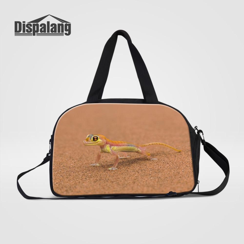 Dispalang Brand Luggage Bag Large Capacity Men Travel Duffle Bags Tote Lizard Print Weekend Crossbody Bag Travel Shoulder Bags