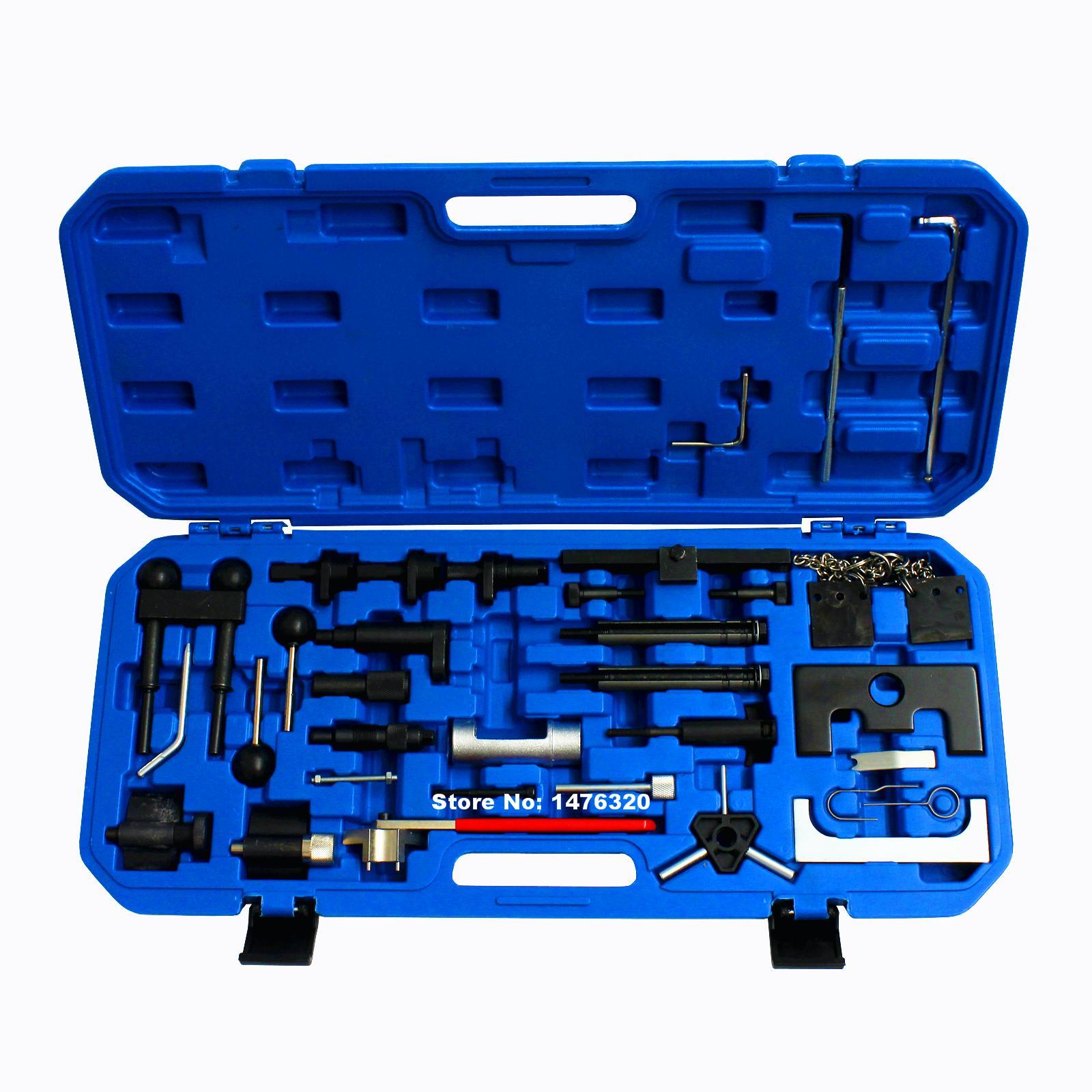 Automotive Diesel Petrol Engine Timing Tool Kit For VW AUDI A2/A3/S3/A4/A6/TT & 1.2/1.4/1.6/1.8/1.8T/2.0 AT2055 engine camshaft crankshaft locking alignment timing tool kit for audi a2 a3 a4 a6 a8 2 4 3 2l v6 fsi st0169