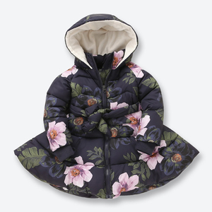 Image 5 - New Kids Winter Jackets for Girls Casual Hooded Zipper Outerwear Girls Coat Cotton Padded Printed Kids Children Clothes 2 9 Yrs