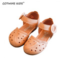 CCTWINS KIDS 2017 summer fashion children toddler cute for baby brand beach sandal kid white flat BeBe shoe girl ankle pink B651
