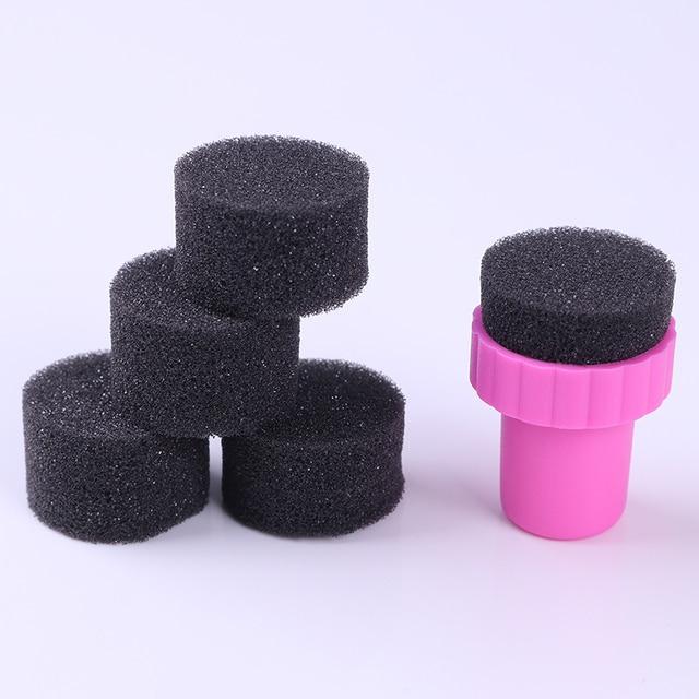 5 Unids Mini Ronda Sponge Nail Gradiente Arte Kit De Uñas ...