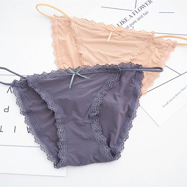 5fb4b0e01c5 SP CITY Fashion Summer Ice Silk Lace Panties Women Sexy Underwear Black Red  Brazilian Panties Sex Solid Crotch Cotton Briefs